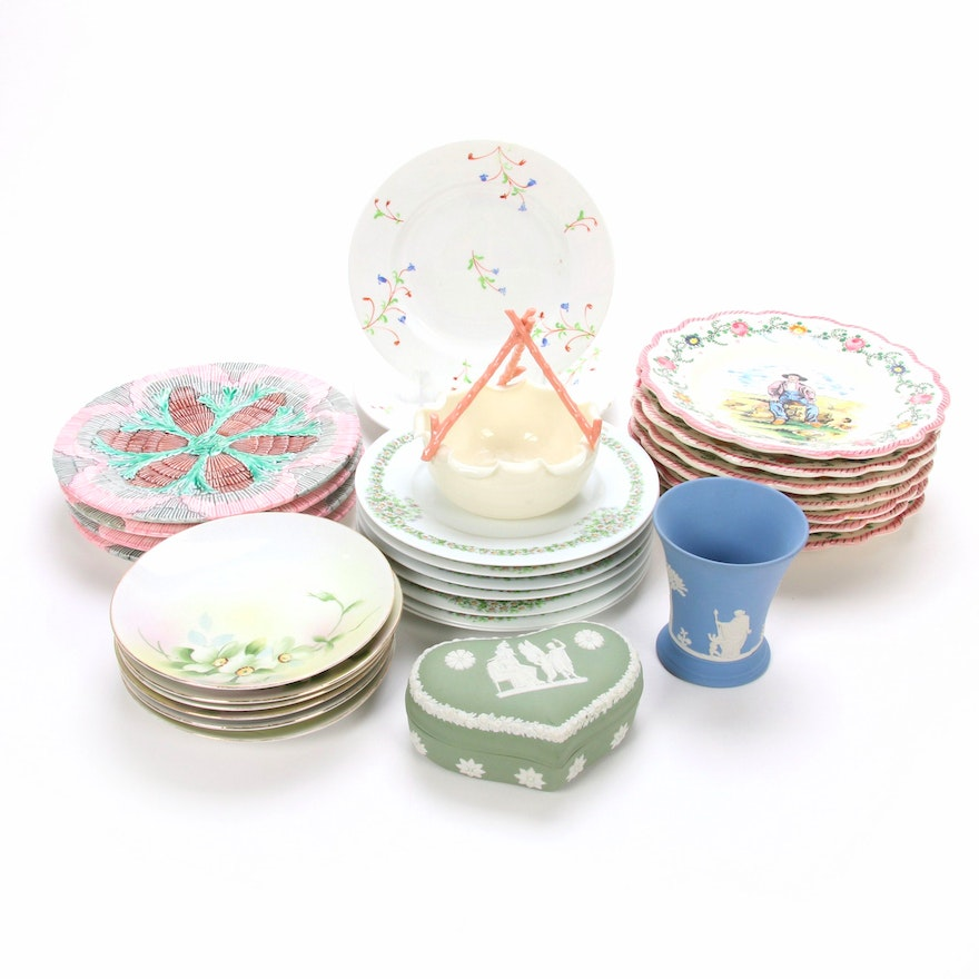 Antique Majolica and Other Porcelain and Ceramic Tableware