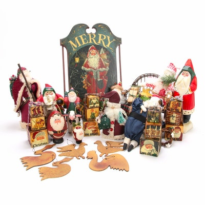 House of Hatten Figurines and Other American Santa Decor