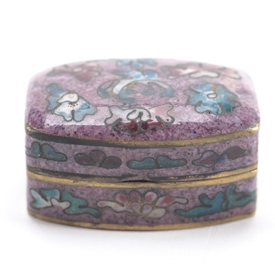 Chinese Cloisonné Enameled Pill Box
