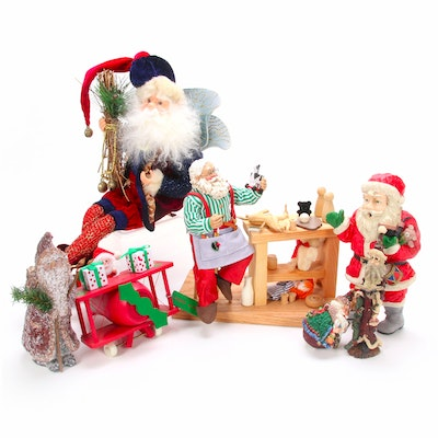Santa Music Boxes and Figurines