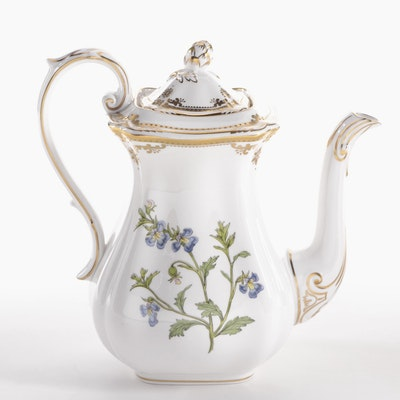 "Spode ""Aerides Lobelia"" Bone China Coffee Pot"