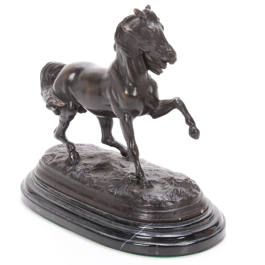 Bronze Sculpture of Galloping Horse, Mid to Late 20th Century