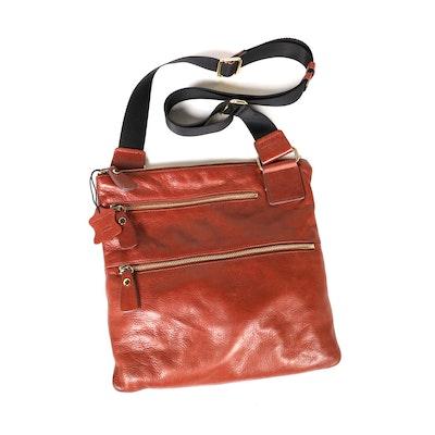Margot Crossbody Messenger Bag in Leather