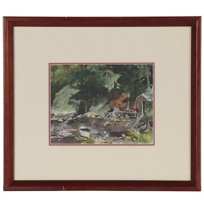 Merton Willmore Coastal Landscape Watercolor Painting