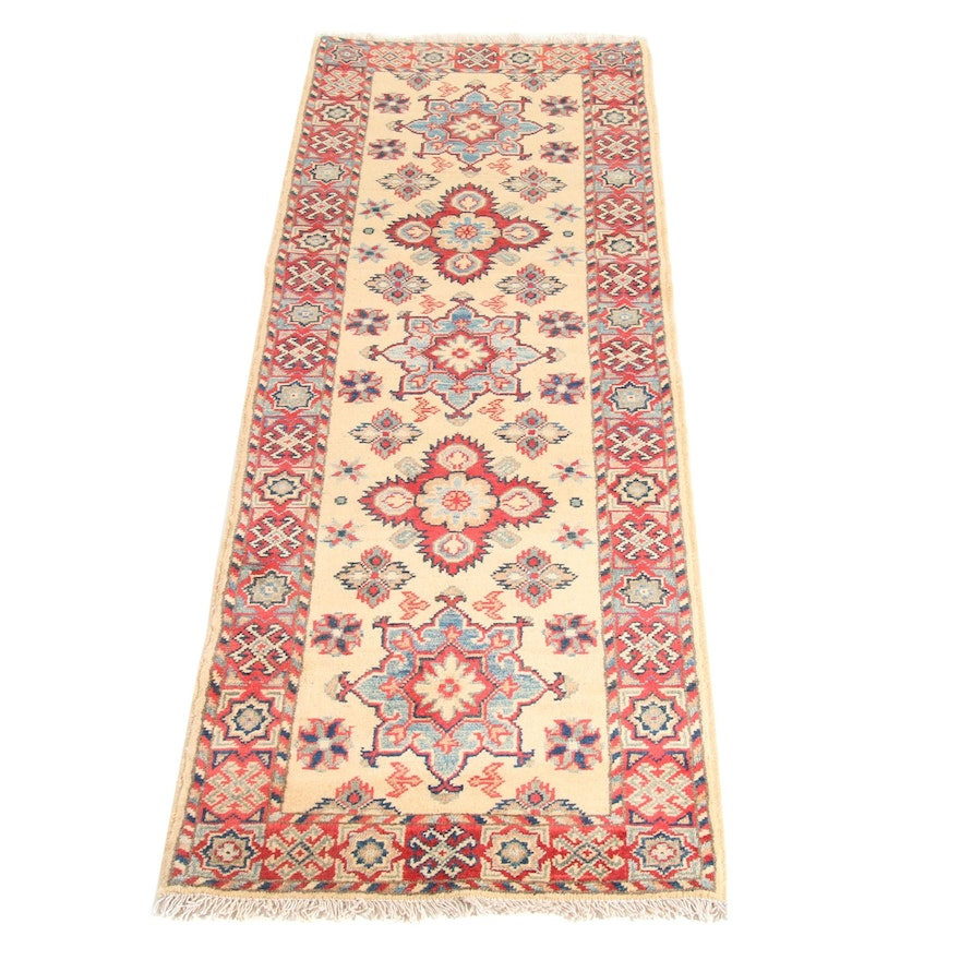 2'1 x 6'2 Hand-Knotted Afghani Persian Tabriz Runner, 2000s