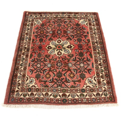 3'6 x 4'9 Hand-Knotted Persian Zantan Rug, 1970s