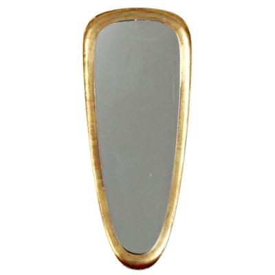 La Barge Ovoid Giltwood Wall Mirror, Mid-20th Century