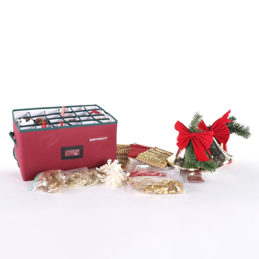Christmas Ornaments and Décor with Storage Case