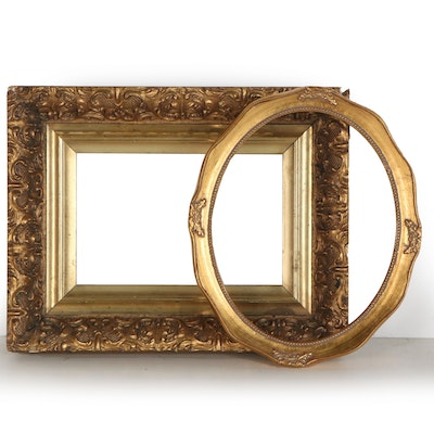 Gilt Wood Frames Including Baroque Style Molding, Early to Mid  20th Century