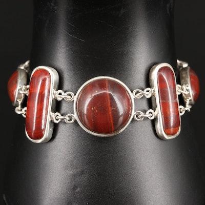 Sterling Red Jasper Bracelet