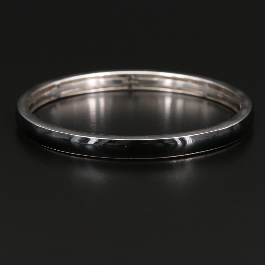 Sterling Enamel Inlay Bangle