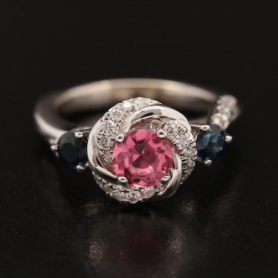 Vera Wang Love 14K Tourmaline, Sapphire and Diamond Ring