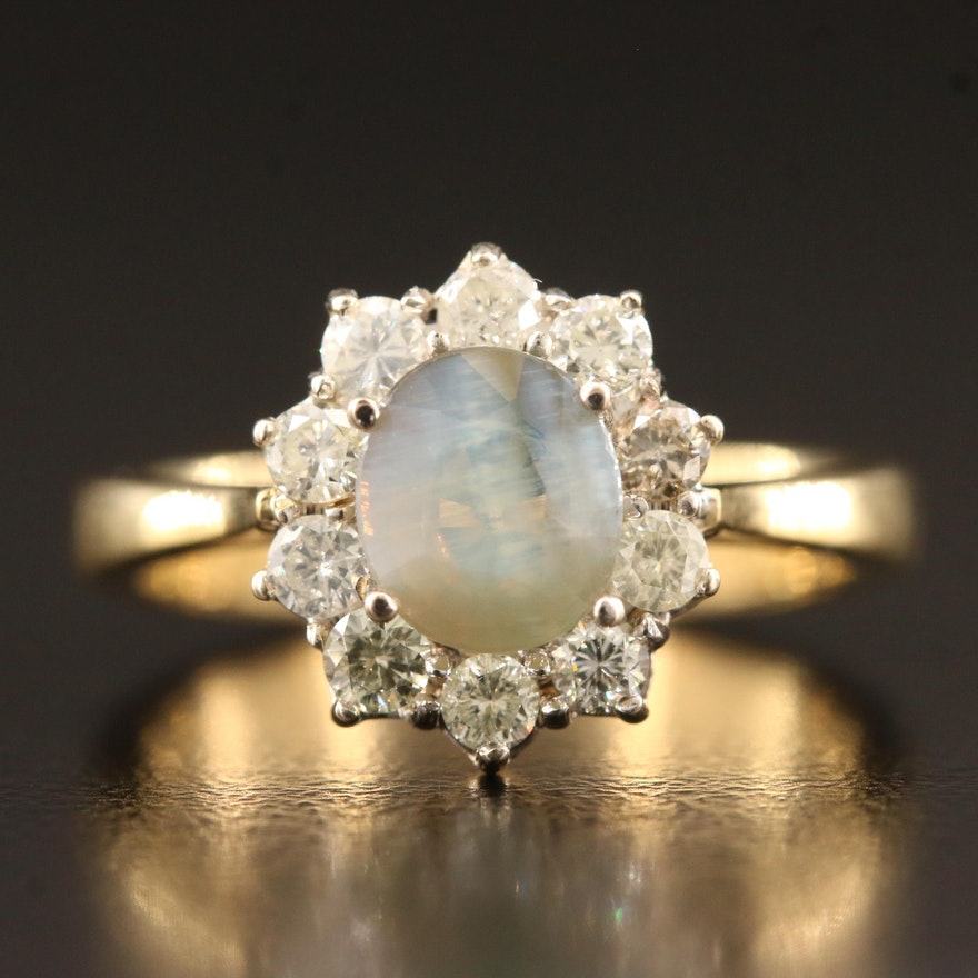 18K Alexandrite and Diamond Ring
