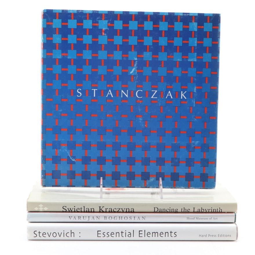 Signed First Edition Art Books by Stanczak, Boghosian, Kraczyna and Stevovich