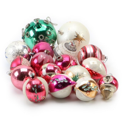 German, Austrian and Other Hand-Painted Glass Christmas Ornaments