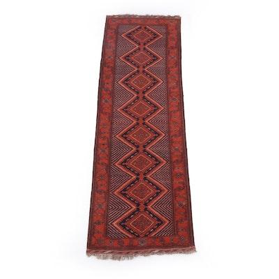 2'10 x 9'10 Hand-Knotted Persian Karaja Wool Carpet Runner