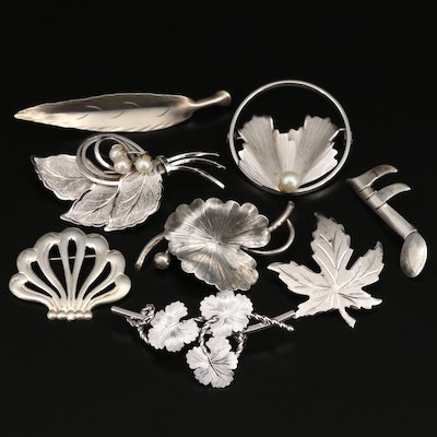 Sterling Brooches Featuring Danecraft, Beau and Stuart Nye