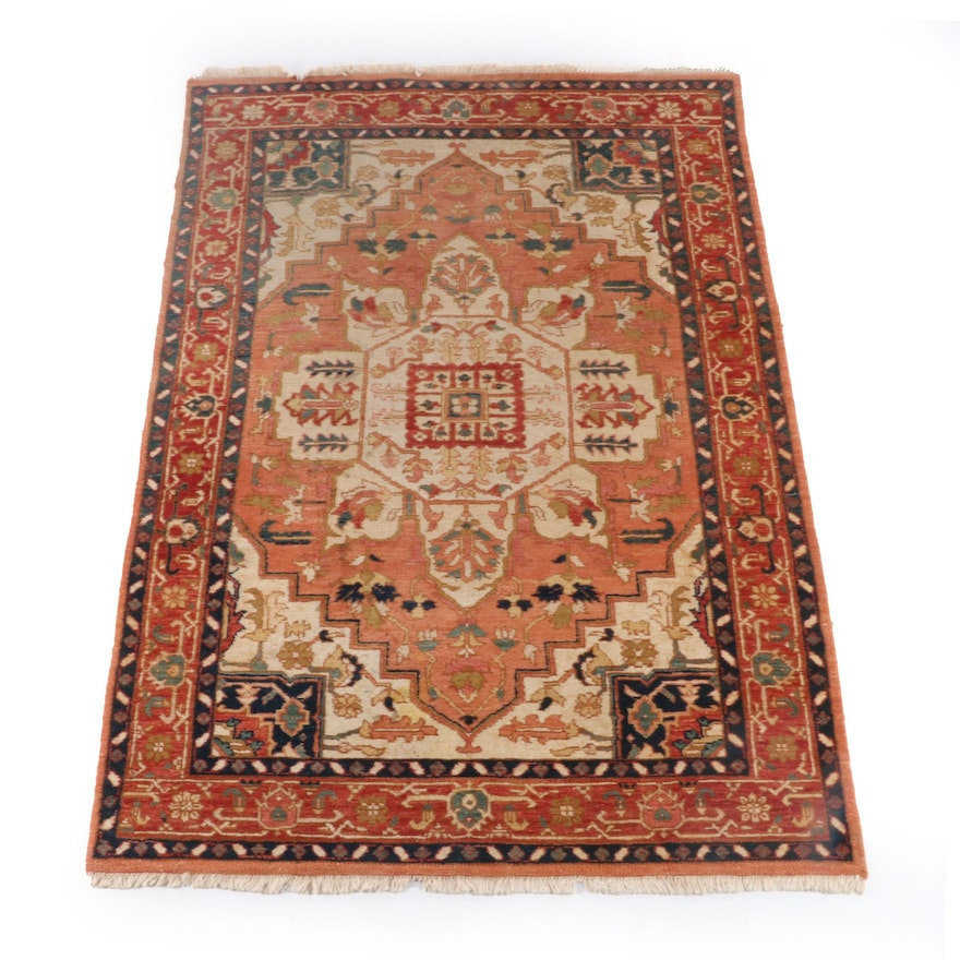 5'9 x 8'10 Hand-Knotted Indian Registry Collection Wool Rug