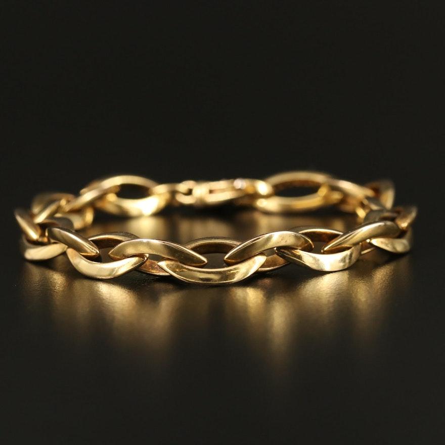 Veronese Sterling Silver Cable Link Bracelet
