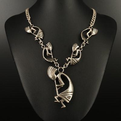 Southwestern Sterling Silver Kokopellia Necklace