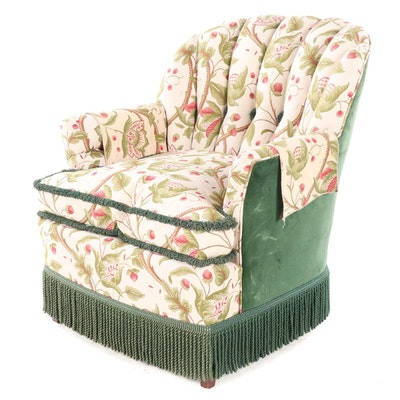 Karpen Furniture Upholstered Armchair with Fringe Skirting