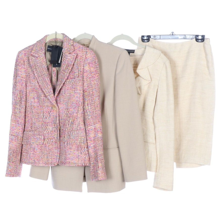 Giorgio Armani, Ralph Lauren and Rena Lange Skirt Suit and Jackets