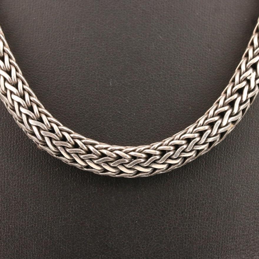 Sterling Silver Espiga Chain Necklace