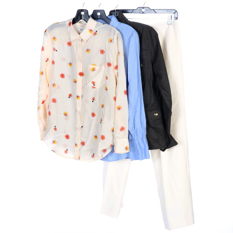 Bernard Zins, Madewell and J. Crew Blouses, Barn Jacket and Trousers