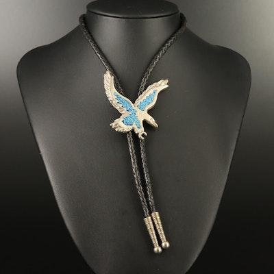 Southwestern Style Turquoise Eagle Bolo Tie