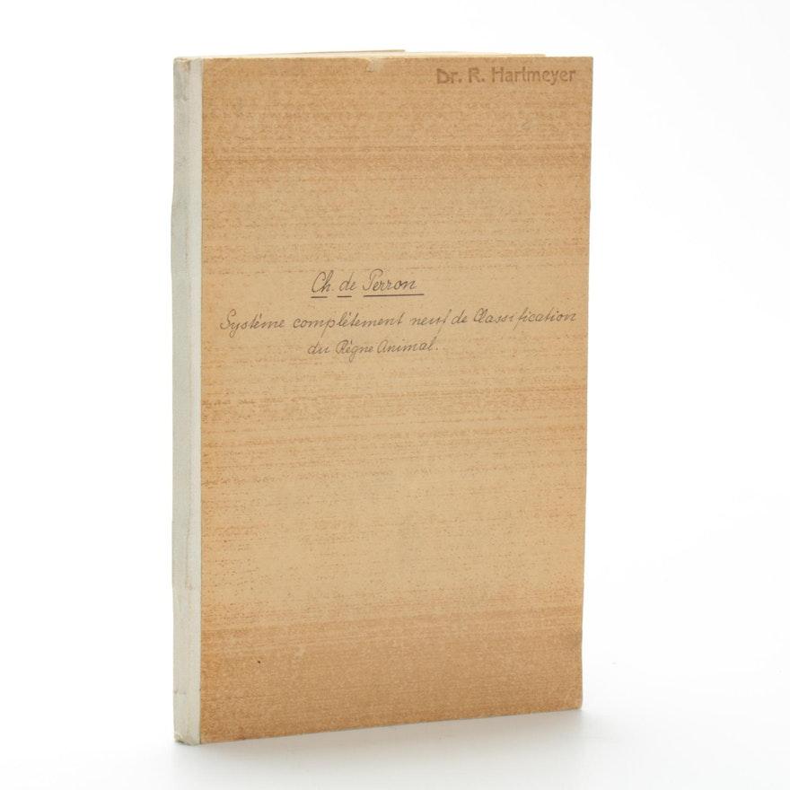 """""""Classification Du Règne Animal"""" by Comte Charles De Perron, 1840"""