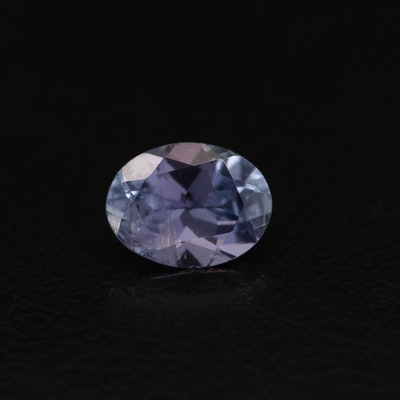 Loose 1.28 CT Oval Faceted Tanzanite
