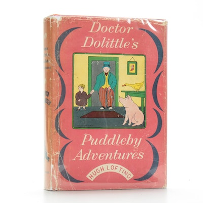 """Doctor Dolittle's Puddleby Adventures"" by Hugh Lofting, 1952 First Edition"