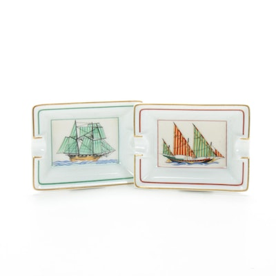 Hermès Paris  Nautical Porcelain Cigar Ashtrays