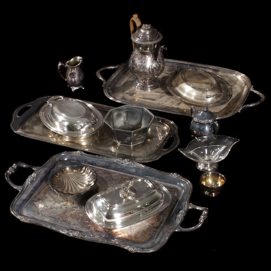 Reed & Barton, 1881 Rogers and Other Silver Plate Serveware