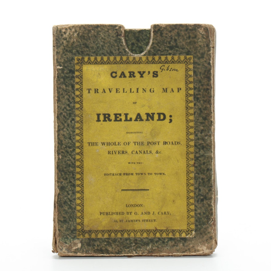 """""""Cary's Travelling Map Of Ireland,"""" 1832"""