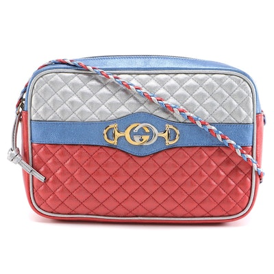 Gucci Trapuntata Camera Bag in Multicolor Laminated Leather