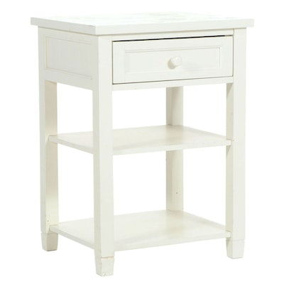 Outlook International Ltd. Painted Three-Tier Side Table