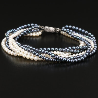 Multi-Strand Pearl Bracelet with 14K Clasp