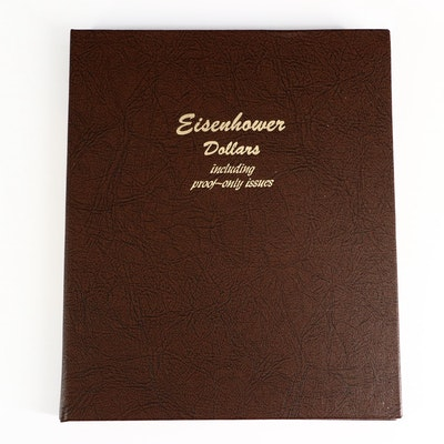 Eisenhower Dollar Coins in Dansco Coin Album, 1971-1978