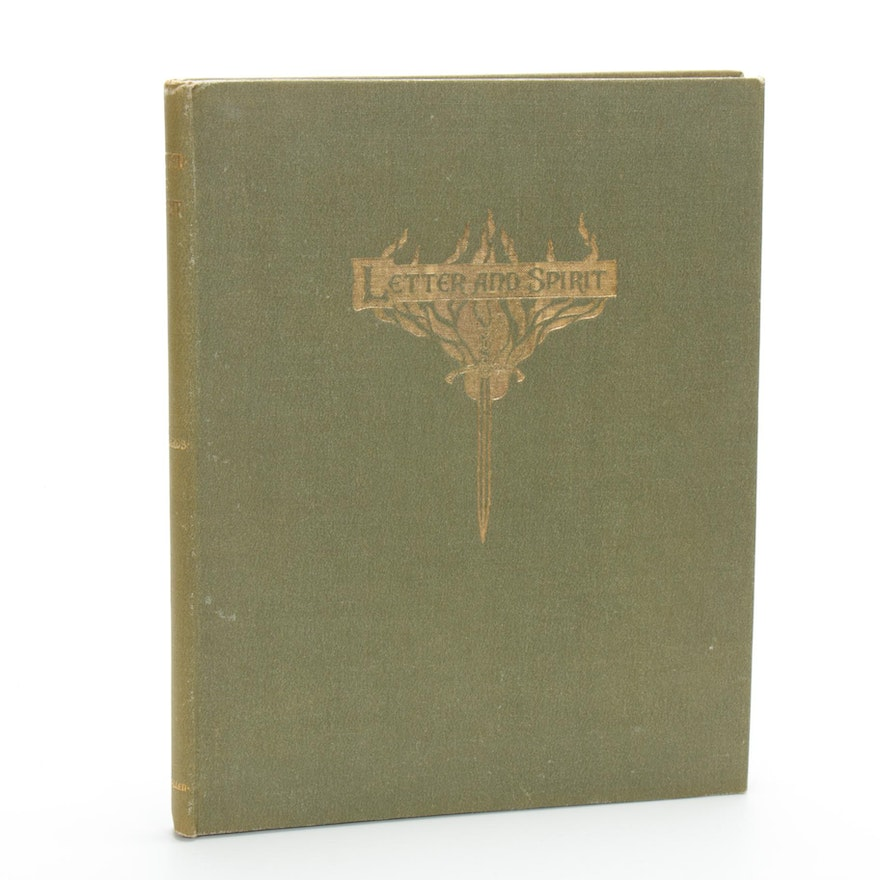 """Letter And Spirit, Dramatic Sonnets Of Inward Life"" By A.M. Richards, 1898"