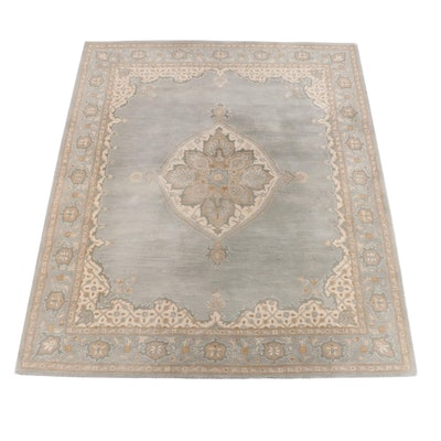 """8'1 x 10'1 Hand-Tufted Indian """"Mia Persian"""" Wool Rug for Pottery Barn"""
