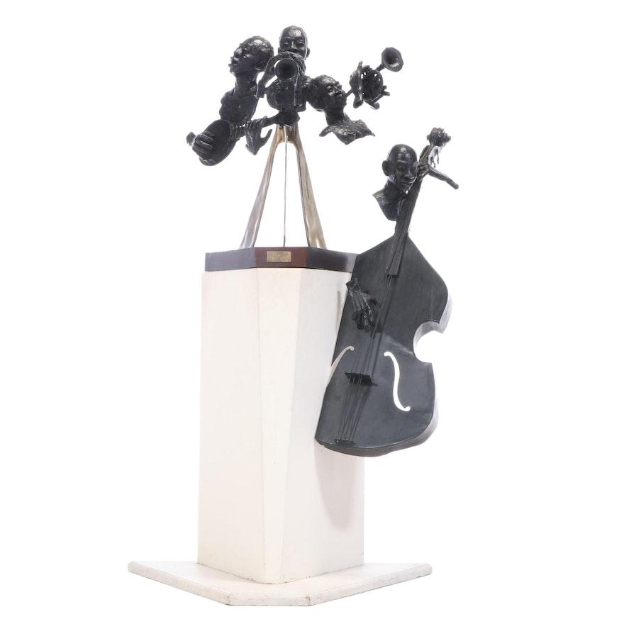 "Ed Dwight Bronze Sculpture ""Jazz,"" 20th Century"