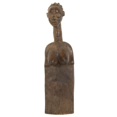 Bassa Style Figural Wooden Element, Liberia