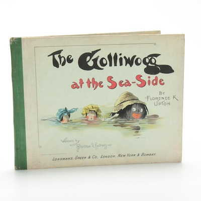 """The Golliwogg at the Sea-Side"" by Florence K. Upton and Bertha Upton, 1898"