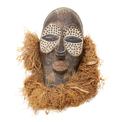 Kete-Lulua Inspired Polychrome Mask, Democratic Republic of the Congo