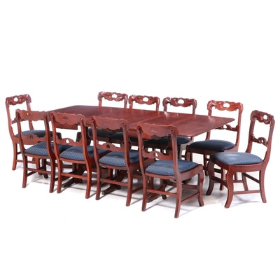 Davis Cabinet Co. Duncan Phyfe Style Cherry Dining Set