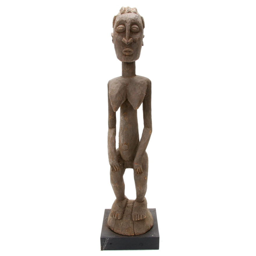 Dogon Style Hand-Carved Wood Maternity Figure, Mali
