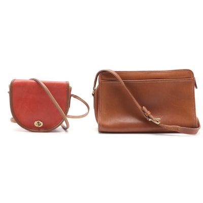 Coach Shoulder and Crossbody Glove-Tanned Leather Bags, Vintage