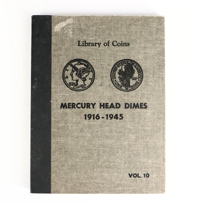 "Mercury Silver Dimes, Including Key Dates in ""Library of Coins"" Album"