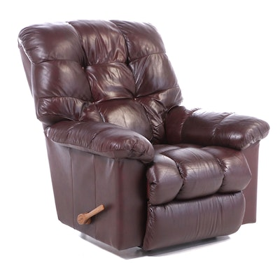 La-Z-Boy Burgundy Leather Reclining Armchair